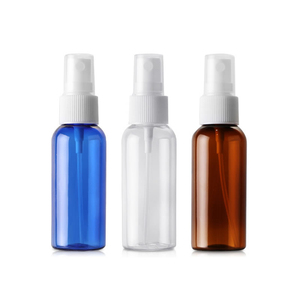 wholesale custom pet material colourful 50ml refillable perfume plastic fine mist spray pump cosmetic bottle spray bottles