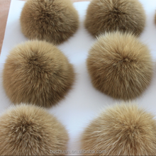 Promotional various durable using colorful fox fur pompon