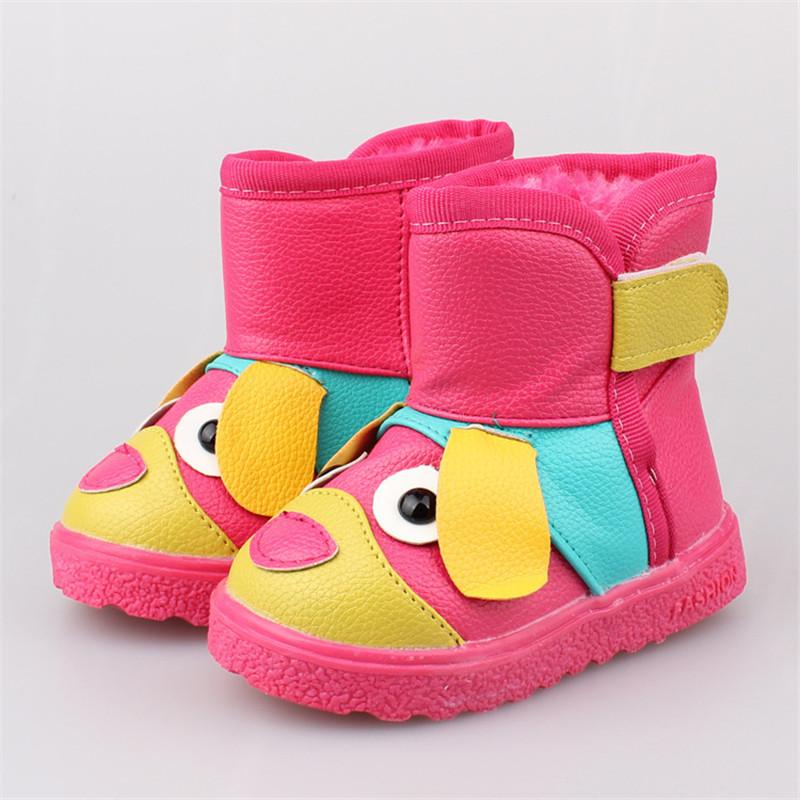 Новая коллекция весна / осень 2015 мода дети искусственная кожа снегоступы детей теплые обувь мальчика девушки противоскользящих сапоги размер 21 - 25