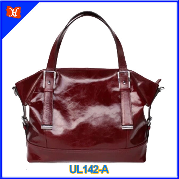 2014 High end name brand oil tanned genuine leather lady hand bag