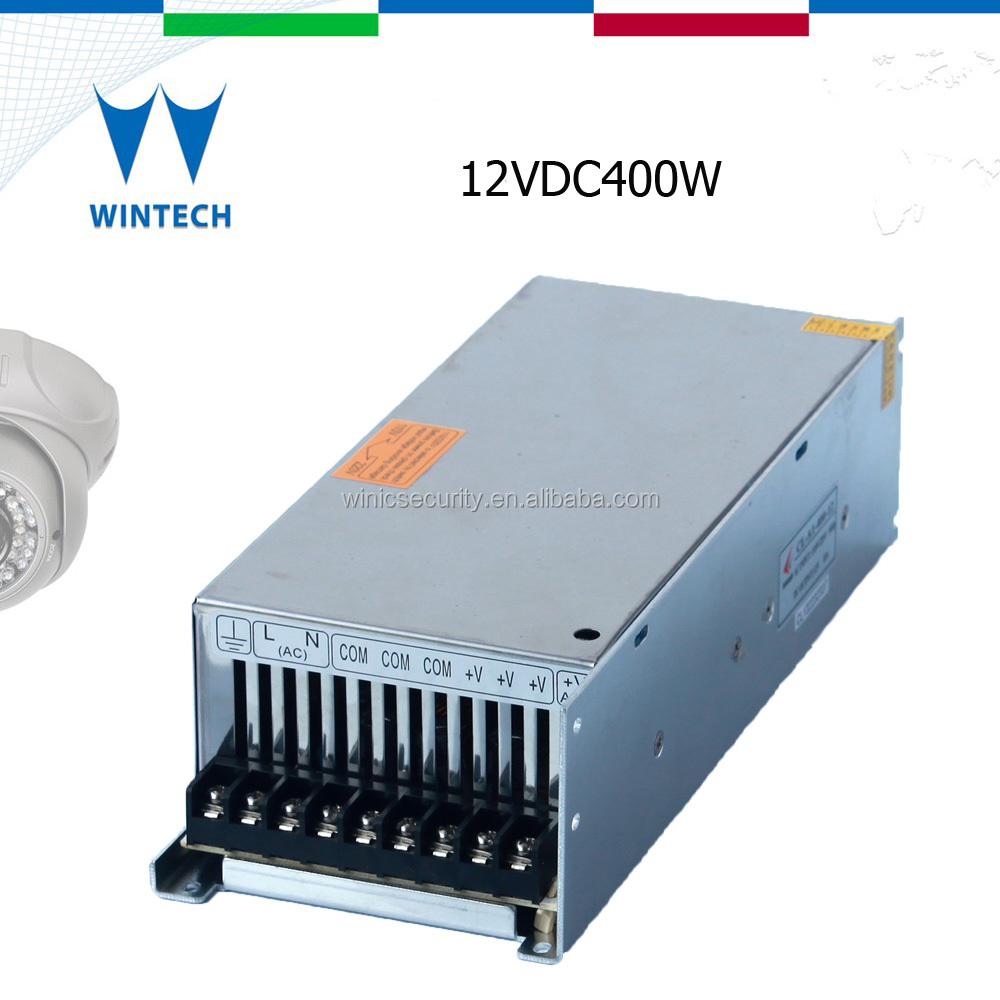 12v 400w constant current for cctv surveillance power supply