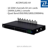 16 channel gsm fixed cellular terminal gateway