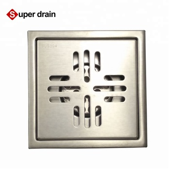 Square Water seal decorative bathroom sink drain covers side outlet shower floor drain