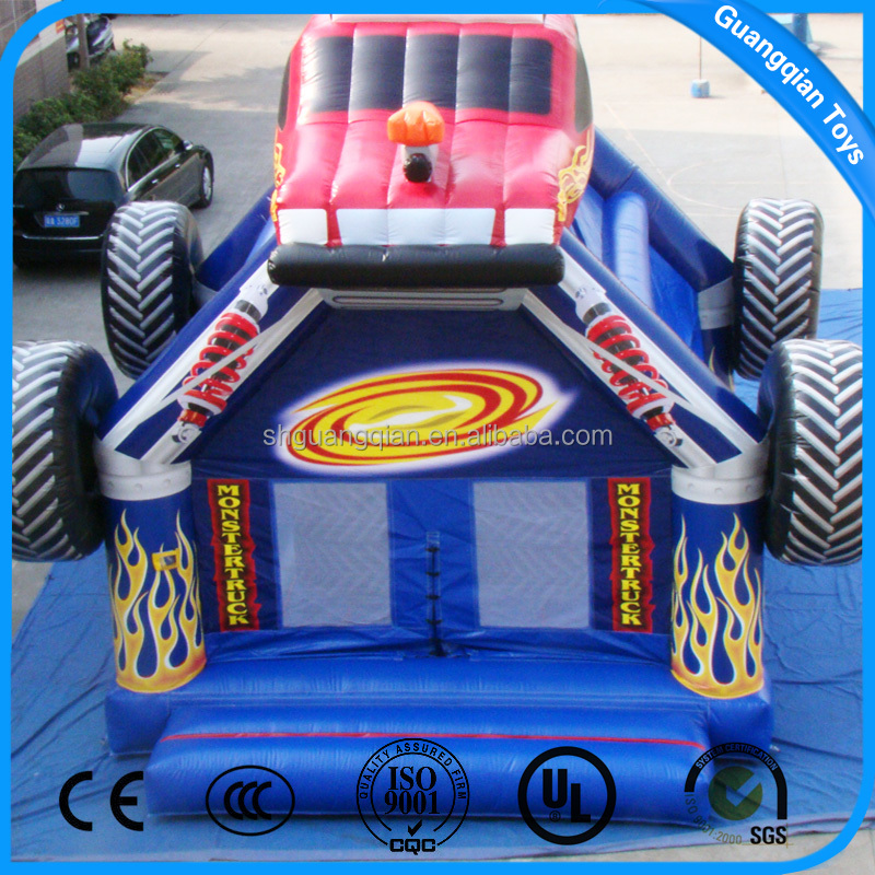 Guangqian Hot Commercial Mini Inflatable Car Racing Bouncer Bed