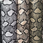 snake skin embossed pattern pvc synthetic leather for making bags shoes