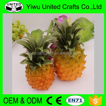 Gros Décoratif Artificielle Faux Fruits Pe Ananas Tropical Fruits on