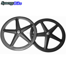 Hot sale 58mm tubular carbon track/road 5 spokes wheels E5