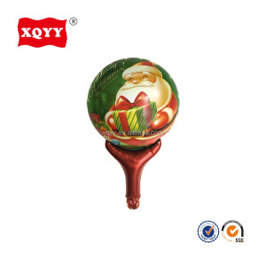 hand stick balloon toy Christmas delivering Santa Claus foil balloons