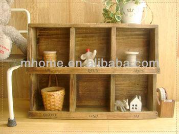 Zakka Wooden Diy Cube Storage Shelf For Home Decoration