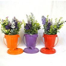 Decorative high quality metal ice bucket storage bucket with lid