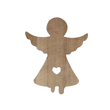 Whole Wood Hanging Christmas Angels Decorations