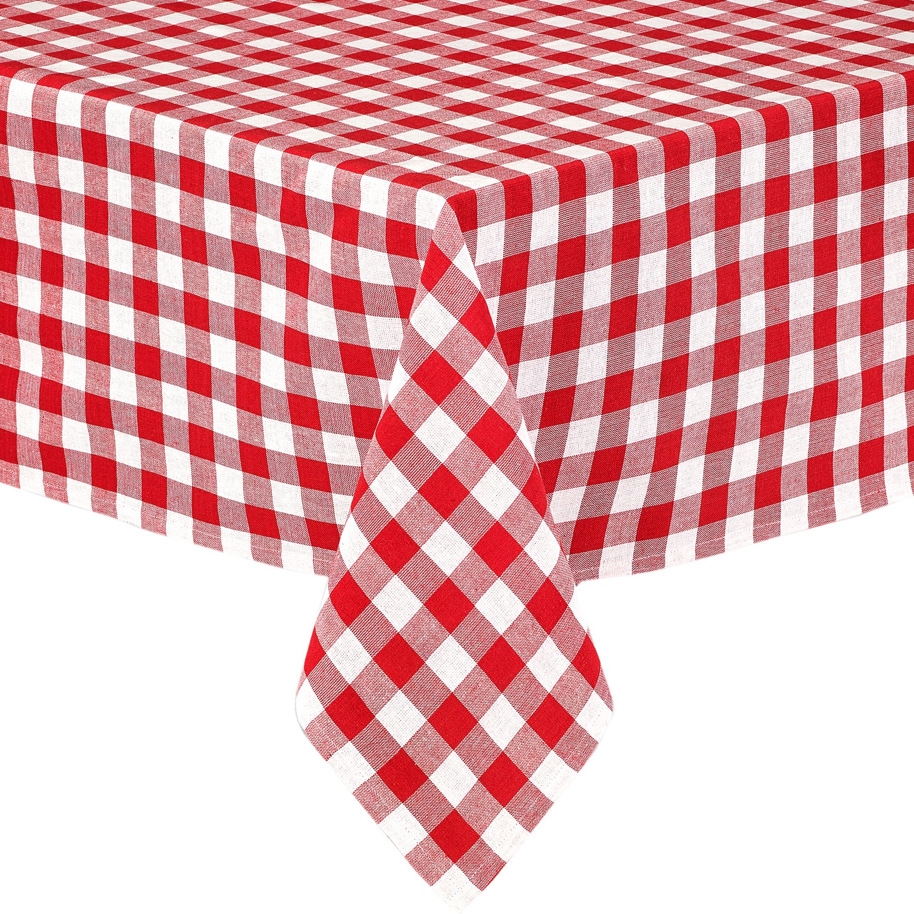 Bon Get Quotations · Lintex Buffalo Gingham Check Indoor/Outdoor Casual Cotton  Tablecloth, Buffalo Plaid 100% Cotton