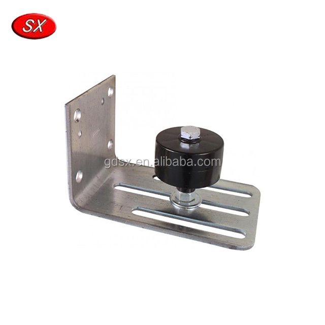 Black Wall Mounted Bottom Floor Guide Stay Roller for Door