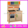2016 wholesale kids wooden play kitchen,popular children wooden play kitchen,hot sale baby toy wooden play kitchen W10C038