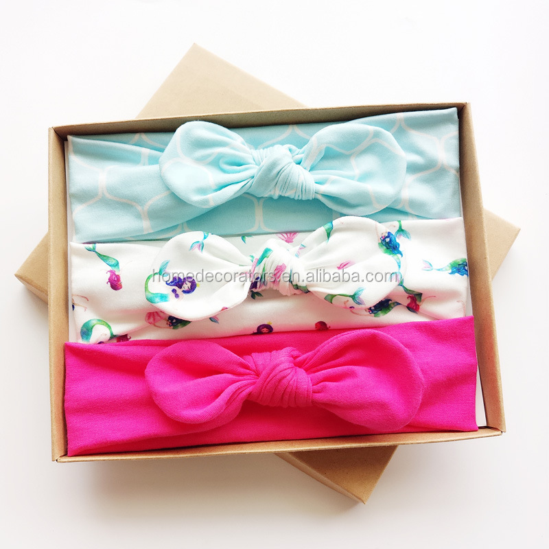 Hairband gift box with three new children's headband baby headbands 3 in 1