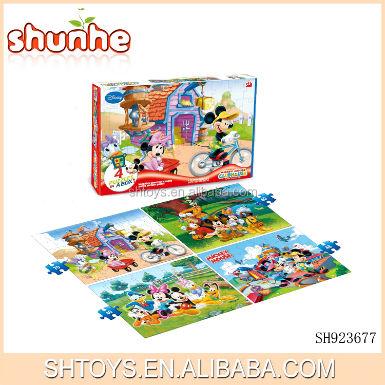 4 floor mickey mouse educational jigsaw puzzle toy for kids