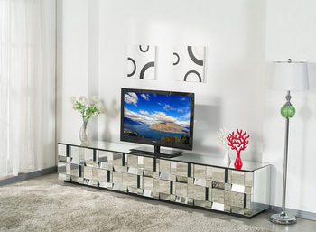 New Style Fashionable Glass Mirrored TV Cabinet With Drawers