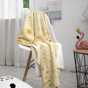 Wholesale Super Soft Digital Printing Double Faced Flannel Throw Blanket