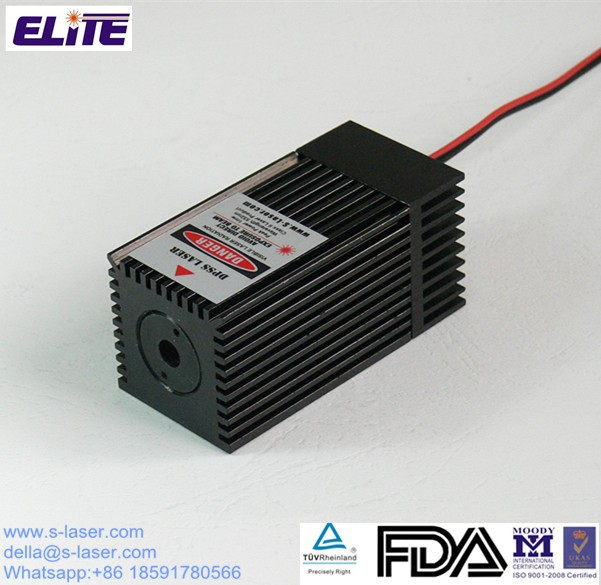 Customized FDA Certify 532nm 500mw High Power DPSS Green Laser Module with TEC Cooler and TTL Modulation, DPSS Laser Module