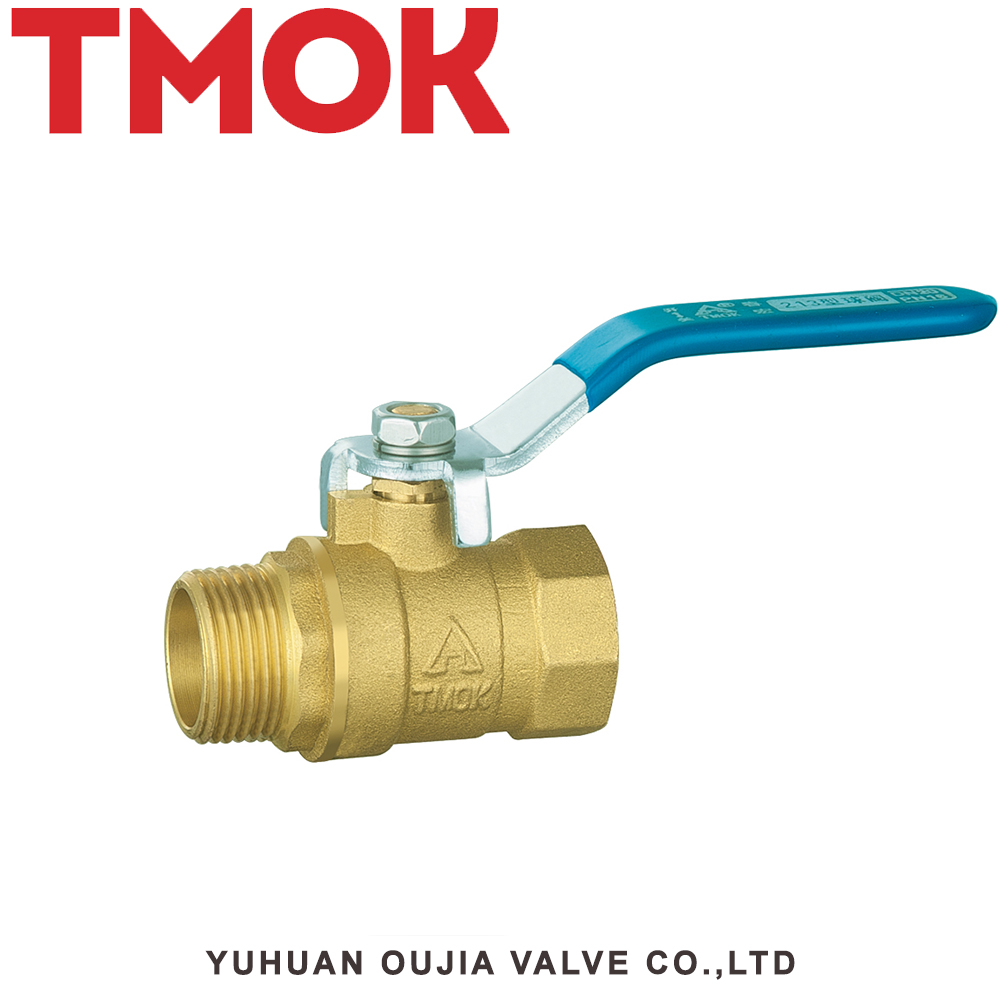 forged tank brass color long handle life lever shut-off 4 inch brass ball valve