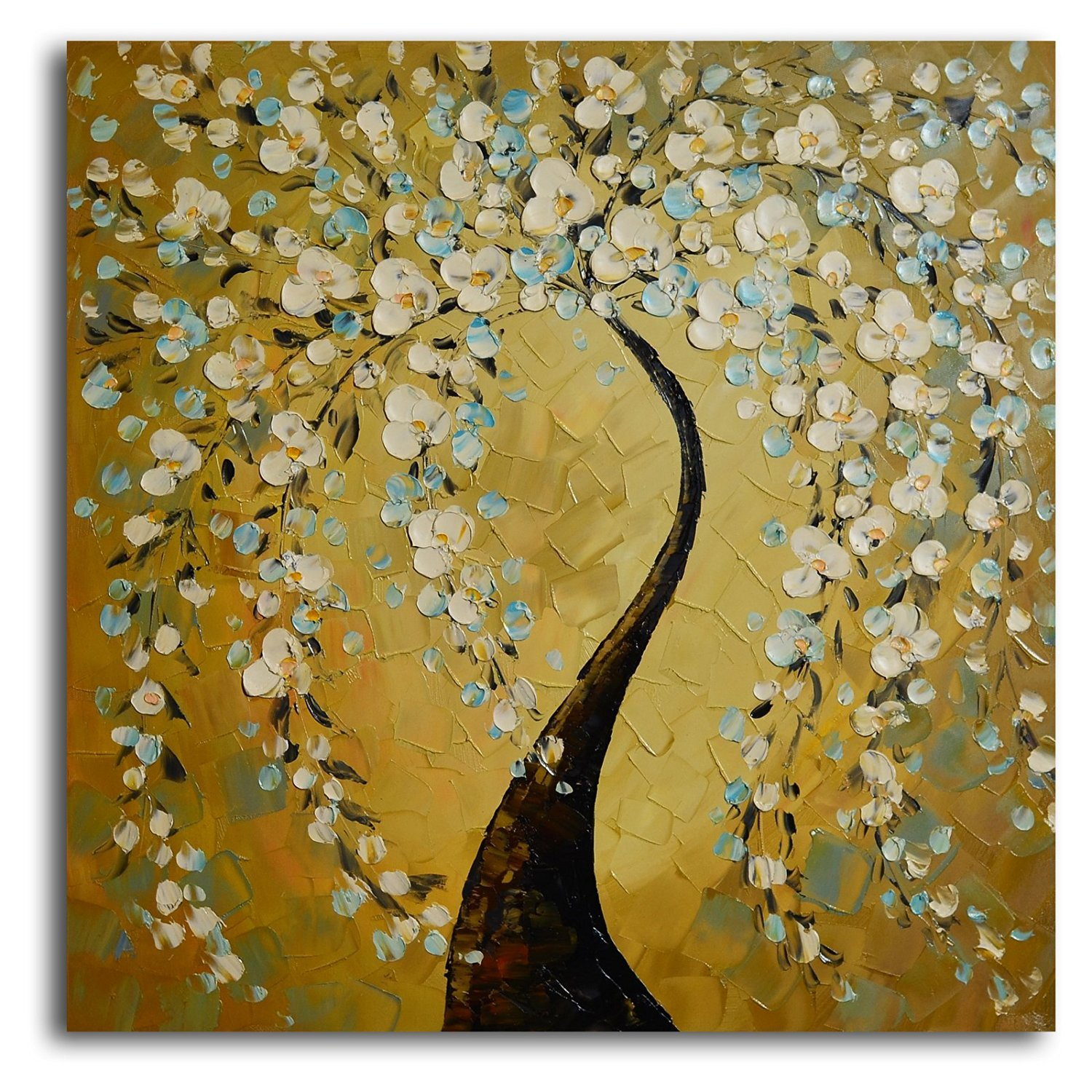 Buy TJie Art Hand Painted Mordern Oil Paintings,Shimmering Bow Oil ...
