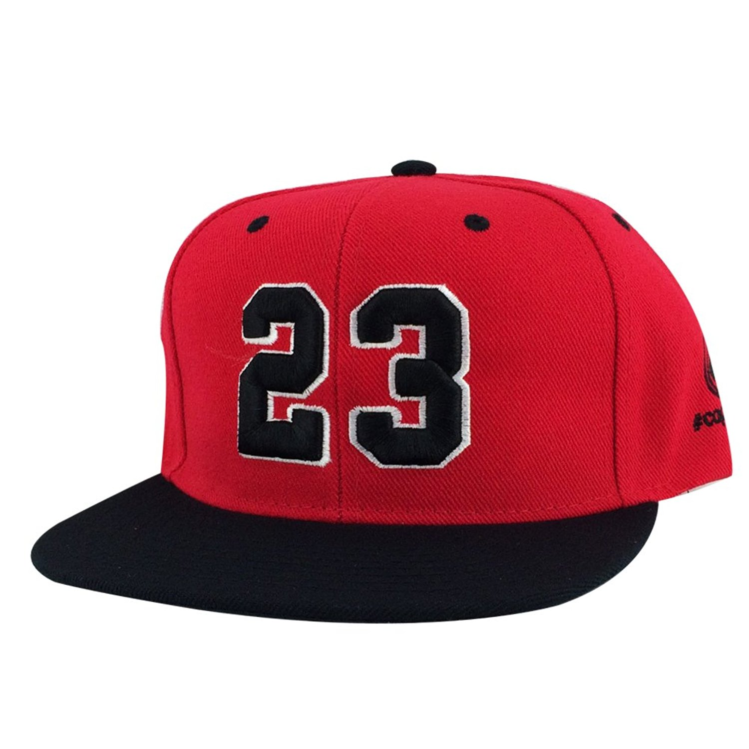 86acc243 Get Quotations · Number #23 Red White Black Visor Snapback Hat Cap X Air  Jordan Og Bulls