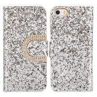 Crystal Surface Glitter Diamond Wallet Leather Case for iPhone 5S 5