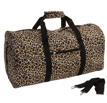 Y Leopard Canvas Women Duffle Bag