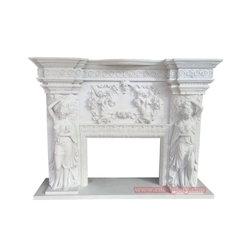 Best selling cnbdglory stone Carved products marble fireplace