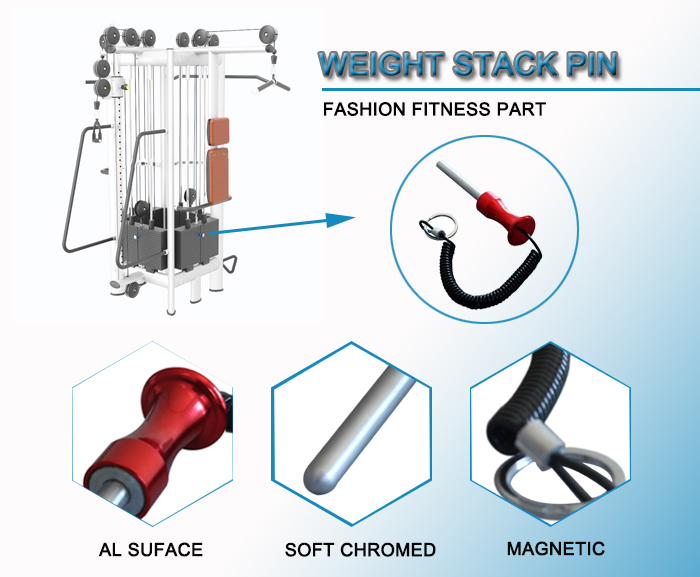 pulleys spring pins, weight stack magnetic pins for fitness equipment
