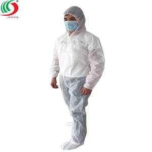 PP Disposable Nonwoven Coverall Working Suit White Medical Protective Coverall