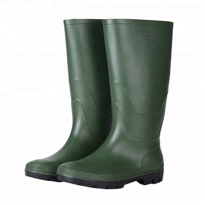 Green color garden work pvc rain boots