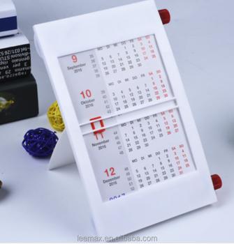 hot sale plastic sliding 2018 calendar