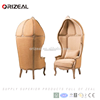 Hotel furniture vintage french canopy chair dome chair wood egg shaped chair for sale