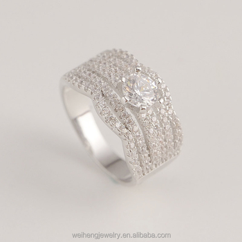 925 Silver Thai Fashion Jewelry Sample Wedding Ring Designs With