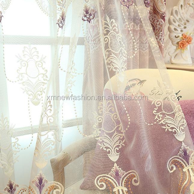 luxury european embroidery window curtain, View embroidery window curtain,  newfashion Product Details from Xiamen New Fashion Houseware Co , Ltd  on