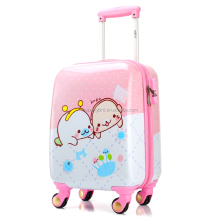 cute cartoon kids trolley hard case luggage and backpack in two wheels