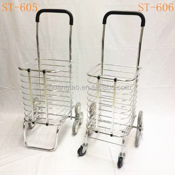 3 Wheel Shopping Cart For Climbing Stair Caddy Foldable