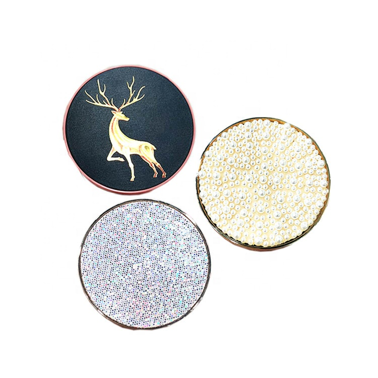 Diamond Cover Plastic 7 Colour Empty Pan Mirror Eyeshadow Palette Case Packaging