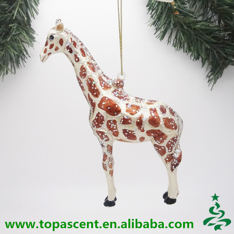 2015 Animated Hand Blown Glass Wild Animal Christmas Ornaments ...