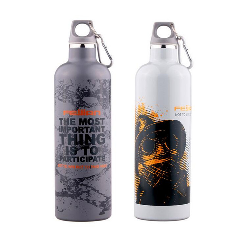 750ml Fashion <strong>Sports</strong> stainless steel Water Bottle Customized 3D Art Design Bicycle water bottle