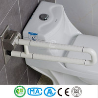 Toilet collapsible grab bar for disabled people