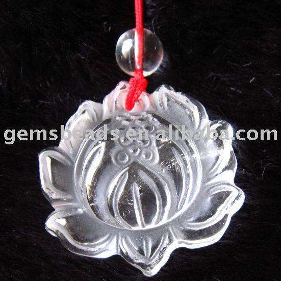 China clear quartz crystal pendant wholesale alibaba rock crystalclear quartz carved lotus flower pendant aloadofball Gallery