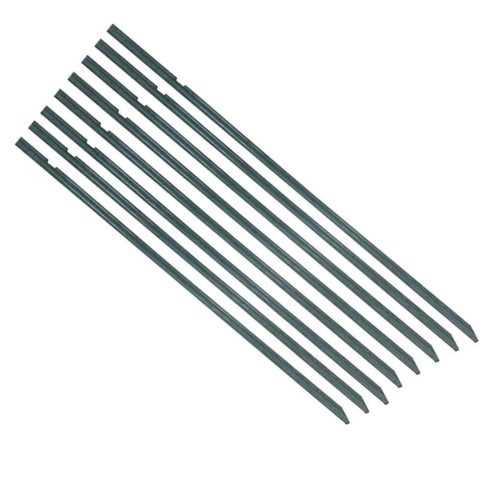 Eco.Fabric Fiberglass Plant Stakes Garden Stakes Tube with 2 Grooved Ribs,Tomato Stakes,Climbing Plants,3-Feet,5/16-Inch Dia,20pack