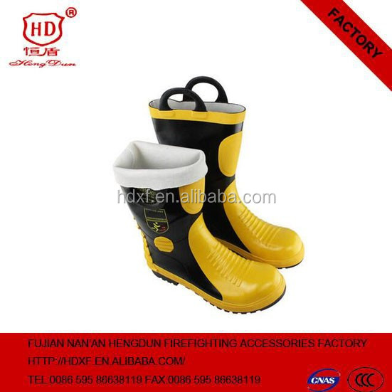 2016 High Quality Waterproof Rubber Boots Fire Fighting Boots With Thermal Insulation