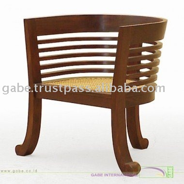 ARM CHAIR TULIP WITH RATTAN