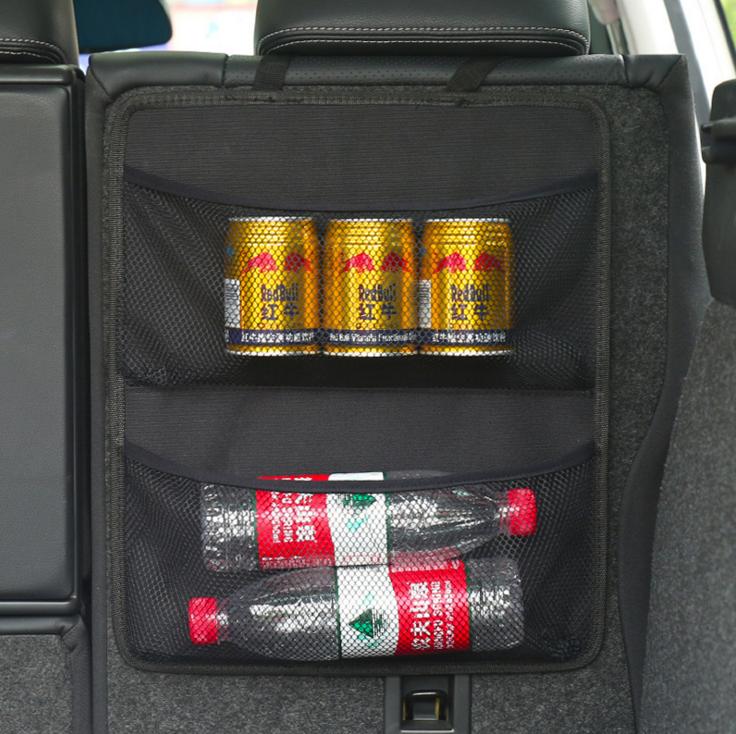 Автомобильная Задняя сумка для хранения на спинку сиденья, мульти Висячие сетки, карманная сумка-Органайзер для багажника, Авто Укладка, ак...(Китай)