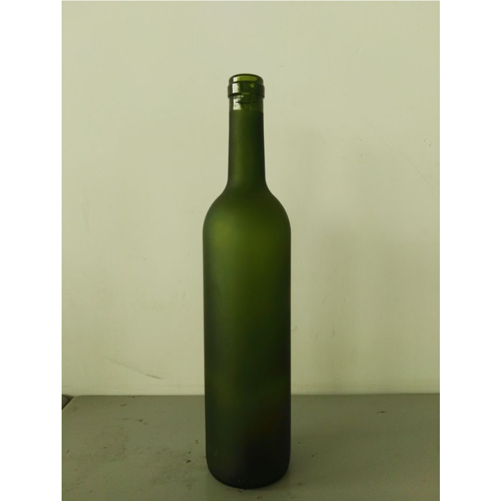 750ml high quality antique green long neck empty glass wine bottle