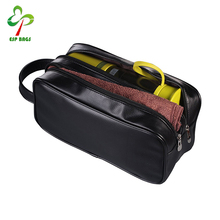 Zipped travel PU leather men cosmetic bag, perfectly traveling companion wash bag