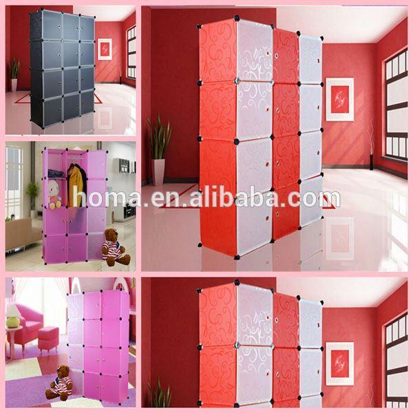 baratos de plstico diy modular armario del dormitorio